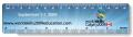 ".020 White Gloss Vinyl Plastic 6"" Rulers / with round corners (1.5"" x 6.25"") Four color process"