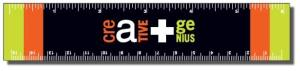 ".020 White Gloss Vinyl Plastic 6"" Rulers / with square corners (1.25"" x 6.25"") Screen-printed"