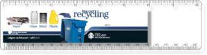 ".020 Clear Plastic 8"" Ruler / with round corners (2"" x 8.25"") Digitally Printed in High Resolution 4 color process"