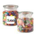 22 oz glass jar filled with assorted jelly beans