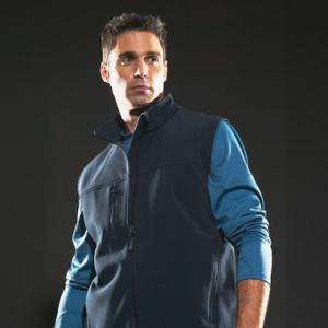 Innis softshell vest (men, decorated)