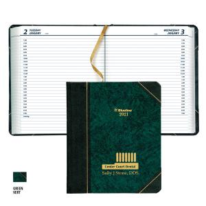 C517F SEWN BOUND HARD COVER DAILY PLANNER